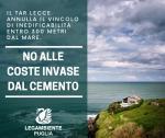 Legambiente Puglia su sentenza del Tar Lecce che annulla il vincolo di inedificabilità entro 300 metri dal mare